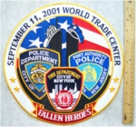 649 R - FALLEN HEROES 9/11 BACK PATCH - Embroidery Patch