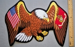 635 R - EXTRA LARGE USA USMC EAGLE PATCH - FREE SHIPPING!