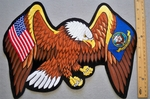 636 R - EXTRA LARGE USA US NAVY FLAG EAGLE PATCH - FREE SHIPPING!
