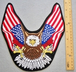 EAGLE WITH USA FLAG WINGS - FREE SHIPPING!