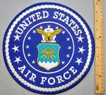 "10"" US AIR FORCE SEAL PATCH - FREE SHIPPING!"