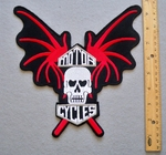 BATWING MOTOR CYCLES SKULL PATCH - FREE SHIPPING!