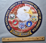 11' The Nation Which Forgets Its Defenders Will Itself Be Forgotten Embroidered Patch
