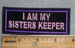 1679 L - I Am My Sisters Keeper - Embroidery Patch