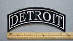 DETROIT TOP ROCKER - EMBROIDERY PATCH - WHITE - FREE SHIPPING!