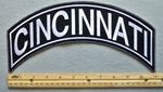 CINCINNATI TOP ROCKER - EMBROIDERY PATCH - WHITE - FREE SHIPPING!
