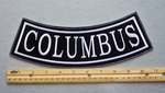 COLUMBUS BOTTOM ROCKER - EMBROIDERY PATCH - WHITE - FREE SHIPPING!