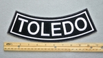 TOLEDO BOTTOM ROCKER - EMBROIDERY PATCH - WHITE - FREE SHIPPING!