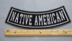 NATIVE AMERICAN BOTTOM ROCKER - EMBROIDERY PATCH - WHITE - FREE SHIPPING!