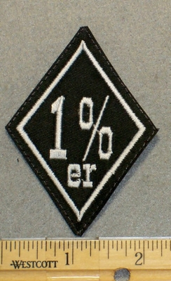 1 %er Diamond Shape - Embroidery Patch