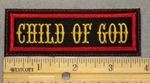 2053 L - Child Of God - Yellow Lettering - Embroidery Patch