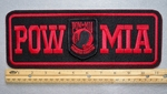 "POW MIA 11"" - EMBROIDERY PATCH - RED - FREE SHIPPING!"