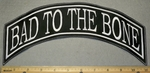 Bad To The Bone Top Rocker - Embroidery Patch