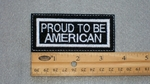 PROUD TO BE AMERICAN PATCH - WHITE