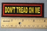Don't Tread On Me Embroidery Patch - Red Border Yellow Letters