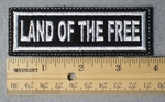 Land Of The Free Embroidery Patch - White Border White Letters