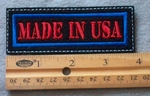 Made In USA Embroidered Patch