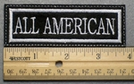 ALL AMERICAN - Embroidery Patch - White Border White Letters