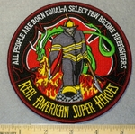 2073 W - American Super Heroes - Firefighter - Embroidery Patch