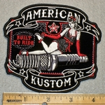 American Kustom - Lady On Spark Plug - Embroidery Patch