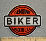 1251 N - Genuine Made in Usa - Biker -Round Patch - Embroidery Patch