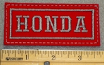 HONDA- Red Background - Embroidery Patch