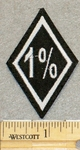 1 % - Diamond Shape - 1.5 Inch - Embroidery Patch