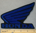 Honda Wing Logo - Blue 5 Inch - Embroidery Patch