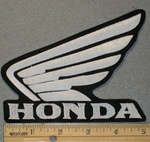 Honda Wing Logo - White - Embroidery Patch