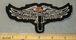 Motorcycle With Open Wings - EMbroidery Patch