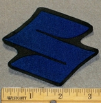 "Suzuki Symbol  ""S"" - Blue - 3 Inch - Embroidery Patch"