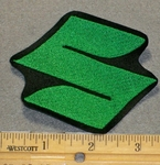 "Suzuki Symbol ""S"" - Green - 3 Inch - Embroidery Patch"