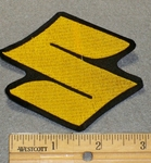 "Suzuki Symbol ""S"" - Yellow - 3 Inch - Embroidery Patch"