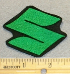 "2127 L - Suzuki Symbol ""S"" - Green - Mini Version -Embroidery Patch"