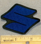 "Suzuki Symbol ""S"" - Blue - Mini Version - Embroidery Patch"