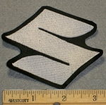 Suzuki Symbol - White - 3 Inch - Embroidery Patch