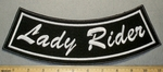 Lady Rider - Bottom Rocker  - Embroidery Patch