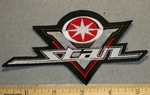Yamaha V- Star Logo - Red - Small Version - Embroidery Patch