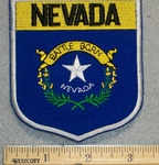 Nevada State Shield - Embroidery Patch
