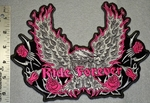 Eagle With Sliver Wings And Roses - Back Patch - Embroidery Patch