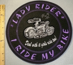 2021 L - Lady Rider - I Ride My Bike - Embroidery Patch