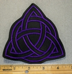 1934 L - Triquetra - Purple - Embroidery Patch