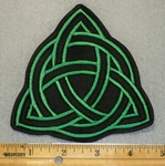 1932 L -Triquetra - Green - Embroidery Patch