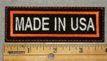 1974 L - Made In USA -Orange Border - Embroidery Patch