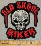 Old Skool Biker WIth Skull Face