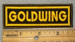 Goldwing - Yellow Lettering - Embroidery Patch