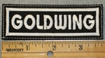 Goldwing - White Lettering - Embroidery Patch
