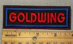 Goldwing - Red Lettering _ Embroidery Patch