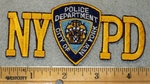1939 N - NYPD With Police Badge - Embroidery Patch