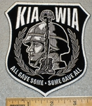 KIA WIA With Military Mans Face - Embroidery Patch